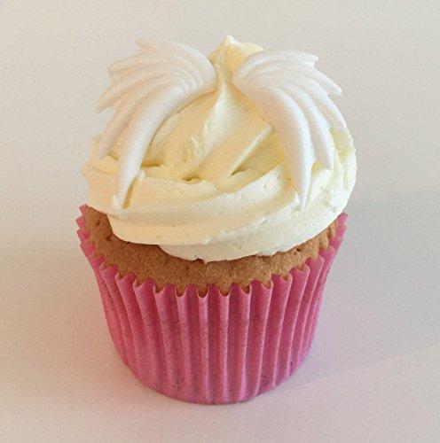 6 Handgemachte Kuchendekorationen aus Zucker: Große Engelsflügel