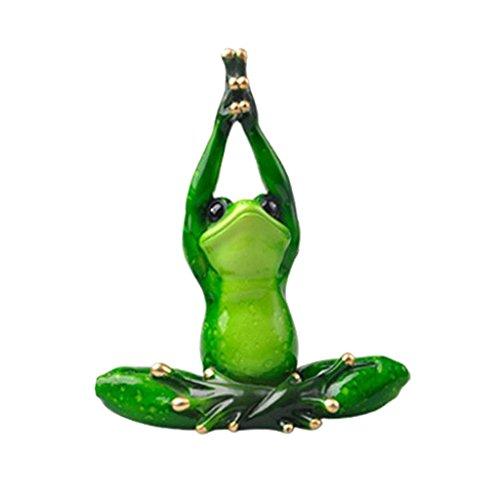 D DOLITY 3D Meditation Yoga Frosch Tier Harz Handwerk Dekoration Figuren Skulpture - B