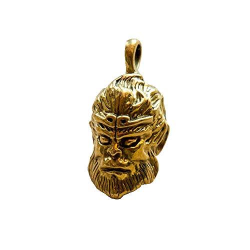 LNDDP Pure Copper Brass Sun Wukong Llavero Hombres