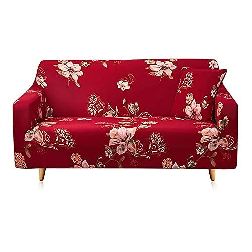 Juego de Fundas de sofá Funda de sofá Funda de sofá elástica para Sala de Estar Pida 2 Piezas para Adaptarse al sofá Chaise Longue en Forma de L A13 de 3 plazas