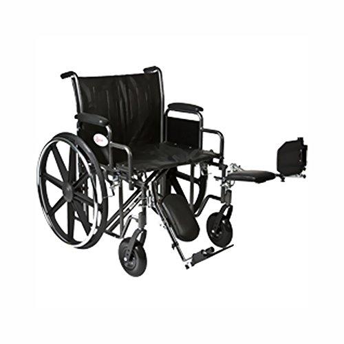 Roscoe Medical K72418Dhrel K7-Lite Wheelchair Removable Desk-Length Arms, Elevating Legrests Silver Vein Steel