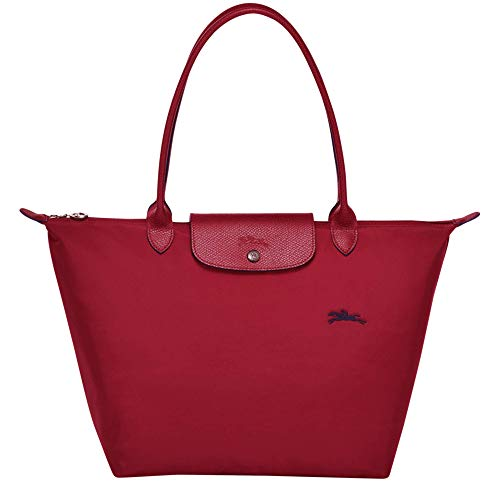 Longchamp Le Pliage Club Große Schultertasche, Rot