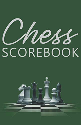 Chess Scorebook: Score Page and Moves Tracker Notebook, Chess Tournament Log Book, 100 Games with 62 Moves, White Paper, 5.5″ x 8.5″, 104 Pages (Chess Score Books & Journals with White Paper)