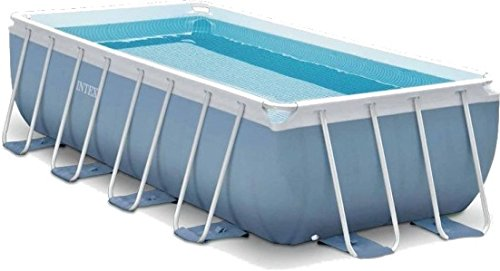 Intex Prism Quadra Frame Pool Set, 10874 liters, Blau, 488 x 244 x 107 cm