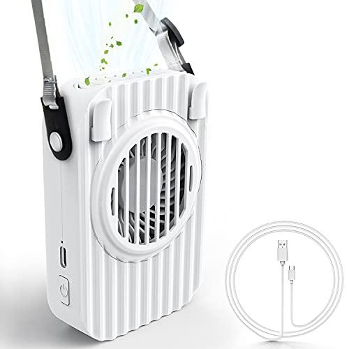 Portatile Mini USB Ventilatore, 3 velocità Ricaricabile Indossabile Ventilatore per Ufficio, Casa, Aria Aperta, Viaggi, Sport