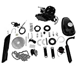 Gosuguu 80cc Bicycle Engine Kit, 80cc Bicycle Engine 2-Stroke Gas Motorized Bike Motor Kit with Speedoemter, BEK-1063