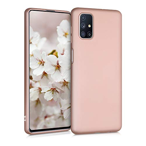 kwmobile Hülle kompatibel mit Samsung Galaxy M51 - Handy Case Metallic Rosegold