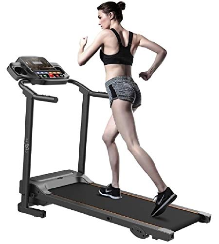 Evolve B1 Motorized Electric Treadmill for Home - 3 level manual inclination & Foldable running machine with 12 programs - Bluetooth, speaker, USB Port, AUX - Fitness App for smart phone