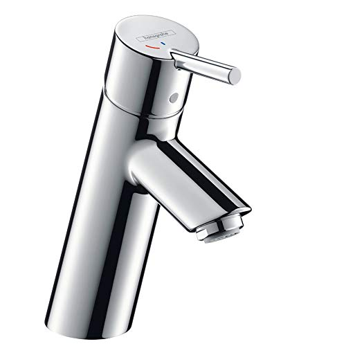 hansgrohe Wasserhahn Talis (Armatur mit Auslauf Höhe 80mm und Zugstangen-Ablaufgarnitur) Chrom