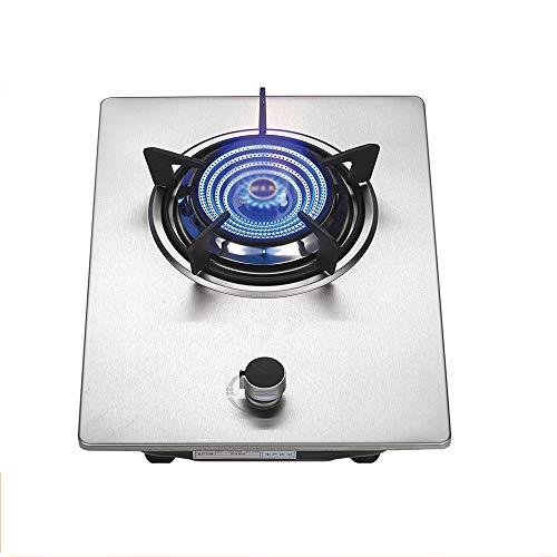 table de cuisson à gaz Cuisinière à gaz Portable en Verre trempé Cuisinière à gaz Cuisson de Table Noire pour réchauffer, Cuire, Faire bouillir, Frire, mijoter