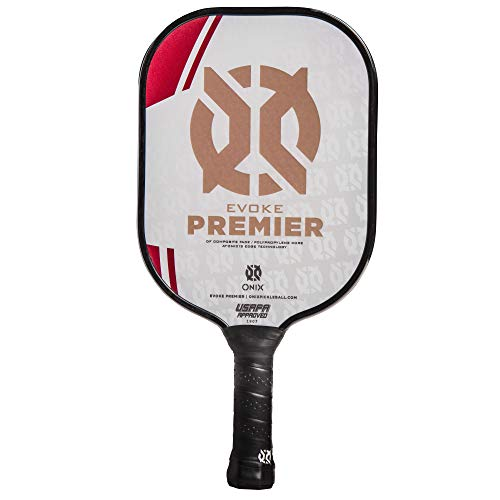 ONIX Evoke Premier Pickleball Paddle, Red, Medium