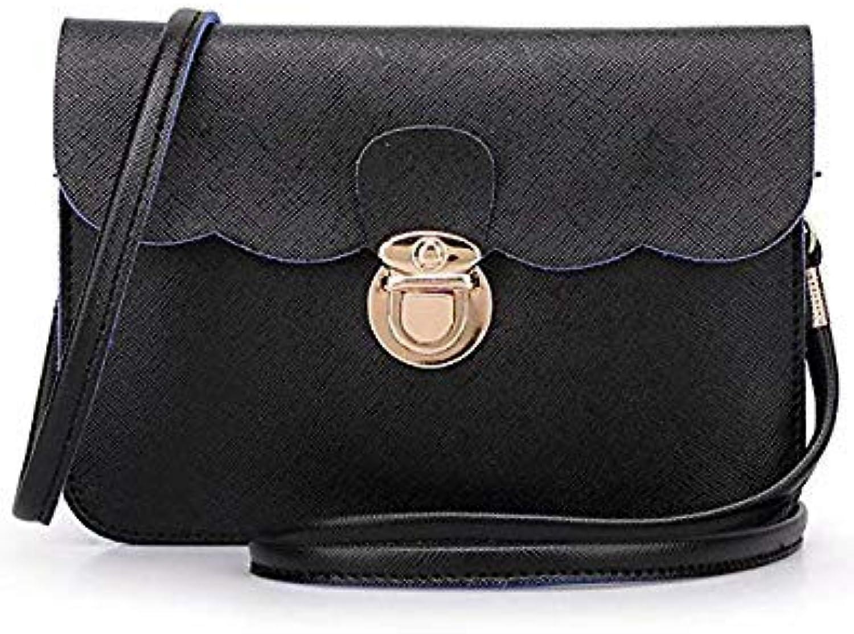 Bloomerang Fashion Small PU Leather Women Messenger Bags Tote Bag Designer Handbags High Quality Cheap Crossbody Bag for Girls Female Bags color Black