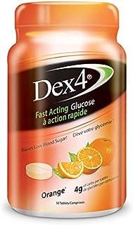 Dex4 Dex4 Glucose Tablets, 50-Count Bottle, Orange, 50 Count (006-352)