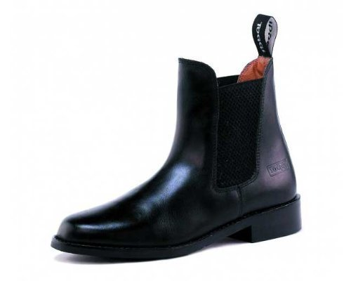 Toggi Ottawa Unisex Pull On Leather Jodhpur Boot In Black, Size: 6 by William Hunter Equestrian