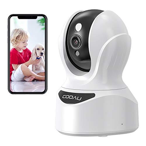2020最新型400万画素COOAU ネットワークカメラ 4MP高画素 子供見守り 老人介護 ペットカメラ ベビーモニター IP監視防犯カメラ WiFi強化ワイヤレスカメラ 室内留守番 自動追跡 顔 サウンド 動体検知 双方向音声 警報通知 暗視撮影 録画可能 遠隔操作 スマホ iPad パソコン対応 日本語取説&アプリ 白色