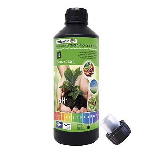 Nortembio Agro Riduttore di PH Biologico 1L. Uso Universale. Disincrostante per Sistemi d'Irrigazione. Colture con Miglior Sapore e Aroma.