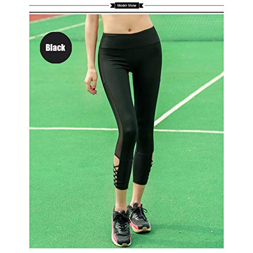 Yundongyi Fitness Yogabroek Sport Training Workout Leggings Gym Vrouwen Middelste Taille Panty Doorzichtige Hardloopbroek