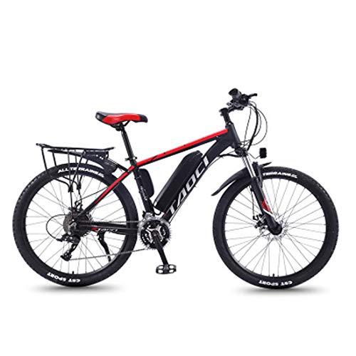 Bicicleta Eléctrica De 26 Pulgadas, Bicicleta De Montaña Para Hombre De 350 Vatios (Batería De Litio Móvil), Moto De Nieve LEC De Aleación De Aluminio De 21 Velocidades Con Frenos De Disco Y Horquilla