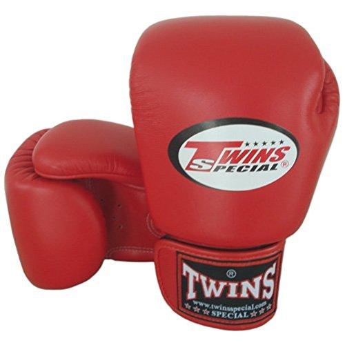 8-10-12-14-16 oz Red Twins Special Muay Thai - Guantes de boxeo (piel, talla M)