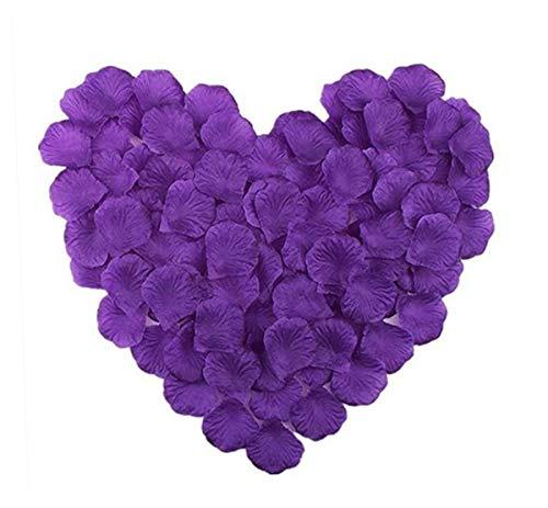 1000 piezas de pétalos de rosa de seda Artificial decoración de flores para banquete de boda ducha nupcial pasillo jarrón decoración pétalos de confeti favores de rosas