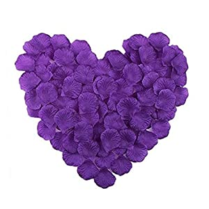 RuiChy 1000pcs Silk Artificial Rose Petals for Wedding Flowers Home Party Romantic Night Anniversary Valentine's Day