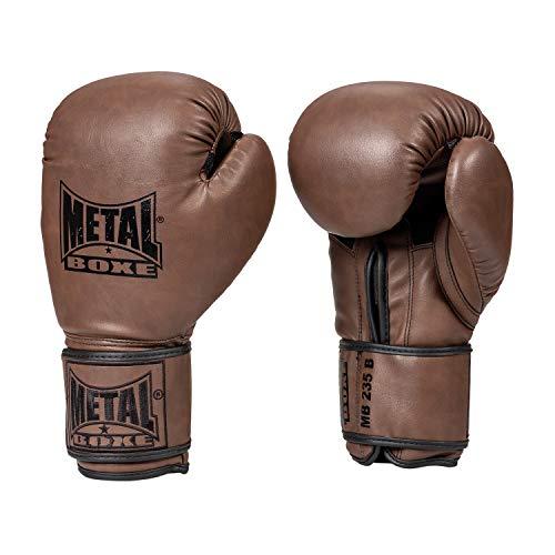 Metal Boxhandschuhe für Erwachsene, Unisex, Braun, 10 oz