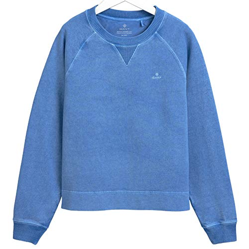 GANT Damen D2. Sunfaded C-Neck Sweat Sweatshirt, Pacific Blue, M