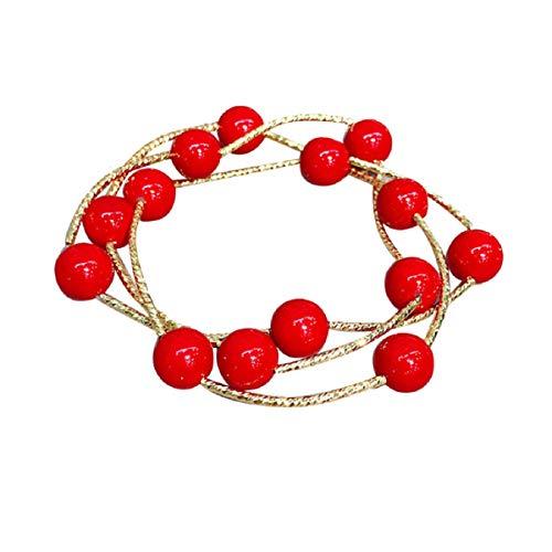 Armbänder, Barlingrock Perlen Armband Trend Persönlichkeit Armband DREI-Schicht-Perlen Dual-Use-elastische weibliche Armband