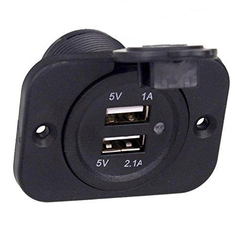 Sharplace Voiture Chargeur USB Double de Voiture Adaptateur DC 12V-24V