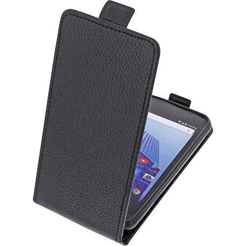 foto-kontor Tasche für Archos Access 45 4G Smartphone Flipstyle Schutz Hülle schwarz