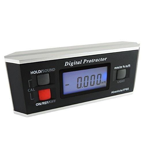 Angle Finder Level Protractor Inclinomètre magnétique V-Groove 0 ~ 360 degrés avec rétro-éclairage