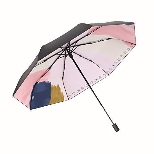 LLP Taschenschirme, Sonnenschutz Regenschirm Reise, SPF 50+ Dame Sonnenschirm Sonnenschutz UV-Schutz Mit 8 Knochen Windundurchlässiger Regenschirm for Frauen (Color : A, Size :...