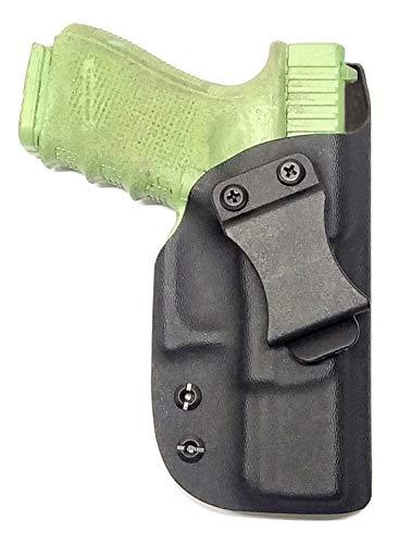 VLTactical IWB Holster for Glock Series with Leather Inside (Glock 48, Kydex Matte Black)