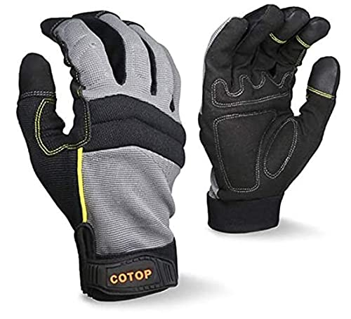 COTOP Guantes de trabajo para hombre, guantes multiusos resistentes al desgaste para pantallas...
