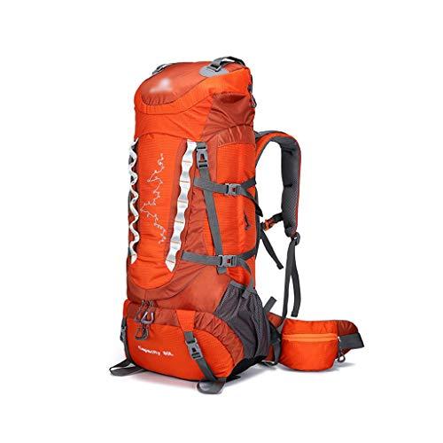 HJQJP666 Wanderrucksack, große Kapazität 80 Liter-beweglicher im Freienrucksack Wanderrucksack, Geeignet for Camping-Zelt Wanderrucksack (Color : Orange)