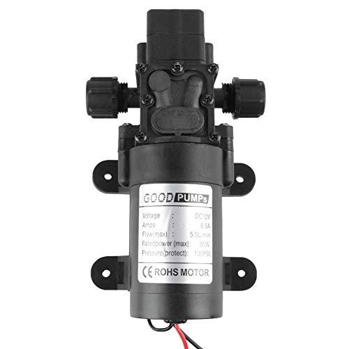 KAIBINY Bomba de Agua de Bomba de diafragma, Bomba de Agua de Auto cebado de diafragma de 12V 80W 5.5L / min con Interruptor de presión