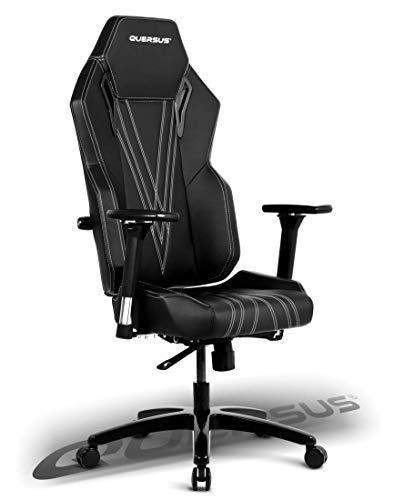 quersus Vaos 503Asiento Gamer sintética Cuie, Negro Blanco, M- M–XL