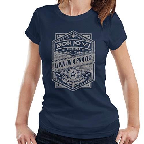 Bon Jovi Livin On A Prayer Live 1983 Women's T-Shirt