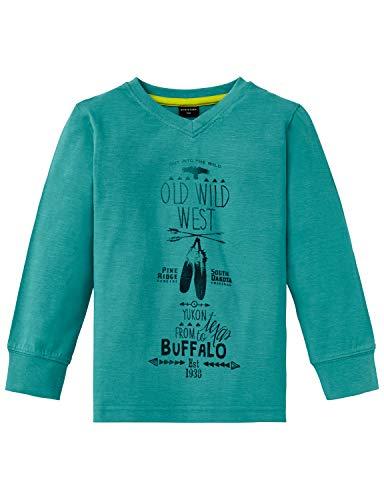 Schiesser Jungen Rebell Boy 1/1 T-Shirt, Blau (Petrol 811), (Herstellergröße: 110)