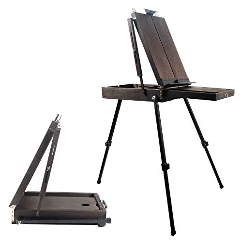 """CONDA 70"""" French Style Easel with Aluminum Legs, Folding Sketch Painting Easel with Drawer, Tripod Easel Stand for Painting, Sketching, Display"""