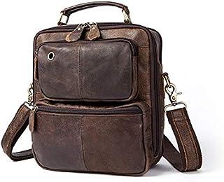 FYXKGLan Men's Genuine Leather Male Scrub Single Shoulder Bag (Color : Grind Arenaceous Coffee)