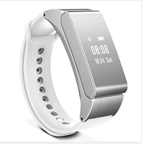 DGRTUY - Reloj de Pulsera Inteligente inalámbrico Bluetooth Auriculares Talk Band podómetro...