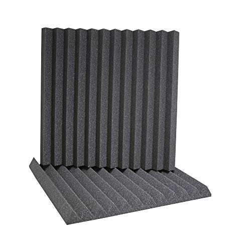 ATS Wedge Foam Acoustic Panels (Charcoal) - 24x24x2 (6pk)