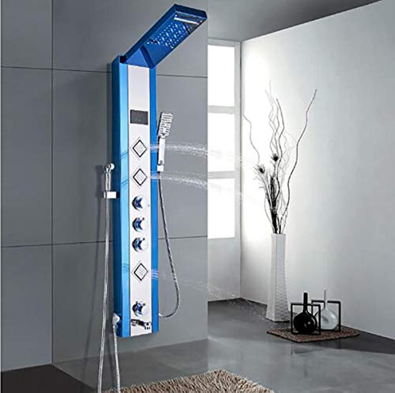 Bad Dusche Wasserhahn Edelstahl Wasserfall Regendusche Panel Wandmontage Dusche Panel Spalte Handtuch Duschwanne Tap