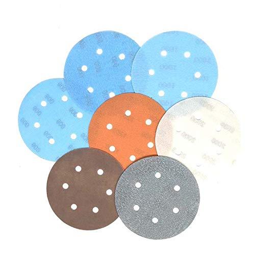 STEDMNY Schleifpapier 10 STÜCKE FV Superfine Schleifscheibe 6 Zoll 6-Loch Wasserdichtes Schleifpapier 600 bis 4000 Körnungen für Nass- oder Trockenschleifen von Autolacken