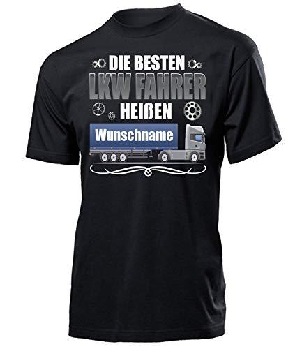 LKW Fahrer heißen Wunschname 6397 Herren Männer Geschenke Berufs kraftfahrer Arbeits Kleidung T Shirt Lastwagen Trucker Fern mit coolen sprüchen XXL