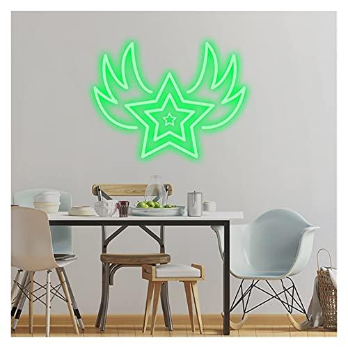 Señales de luz de neón LED personalizadas, luz personalizada LED de neón LED de la luz flexible para la decoración de la sala de hogar de la boda del partido ( Color : Green , Size : 77x59cm )