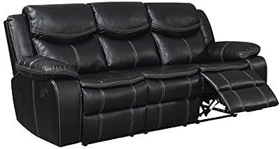 Amazon.com: Benjara Benzara Metal Recliner Sofa with Drop ...