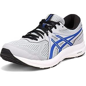 ASICS Men's Gel-Contend 7 Running Shoes, 11, Piedmont Grey/ASICS Blue