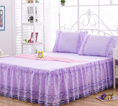Princess Twill Washed Cotton Lace Bed Rock Dekbed, bedlaken, afdekking, beschermhoes, matras, topper, dubbel 220 x 200 cm